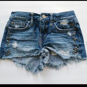 Abercrombie women's shorts distressed stud 00 24